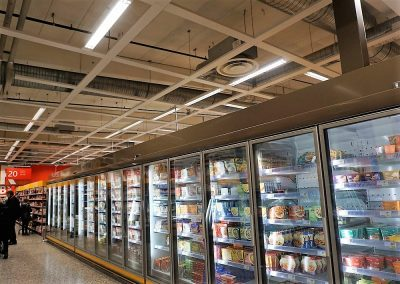 Suspended ceilings can be very useful for powering various kinds of equipment - fridges, freezers, tannoy systems, monitors, etc.